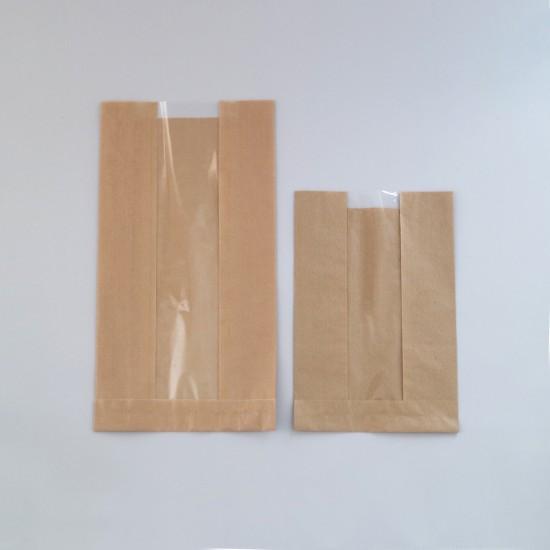Ablakos papírzacskó - nagy