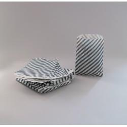 Csíkos papírtasak - 16x20,5 cm - SZÜRKE