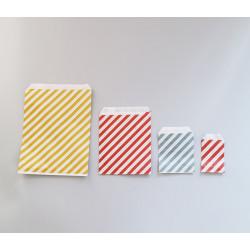 Csíkos papírtasak - 16x20,5 cm - BORDÓ