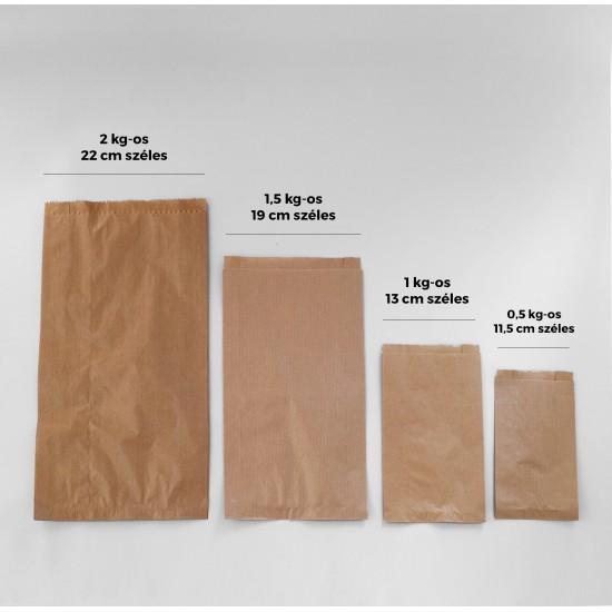 Sütőipari papírzacskó 0,5 kg-os - BARNA