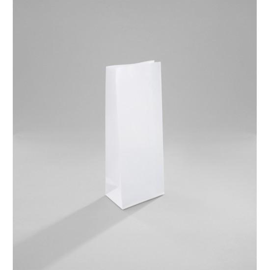 Talpas papírtasak 10,5x6,5x27 cm - FEHÉR