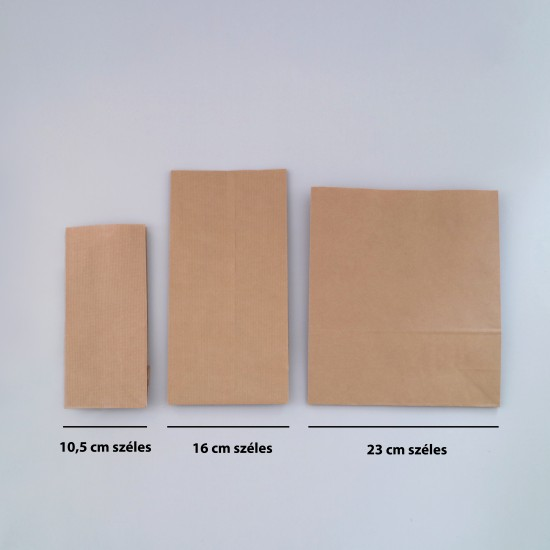 Talpas papírtasak 16x9x37 cm - BARNA